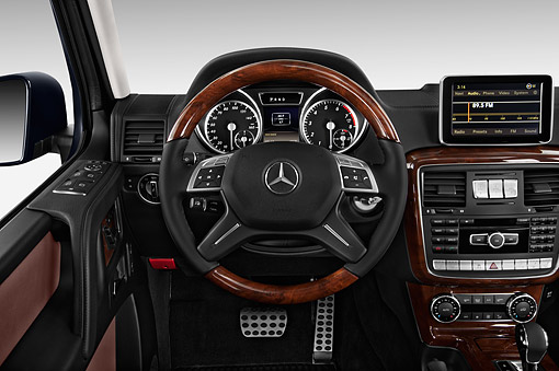 AUT 30 IZ3186 01 © Kimball Stock 2015 Mercedes Benz G-Class G550 5-Door SUV Interior Detail