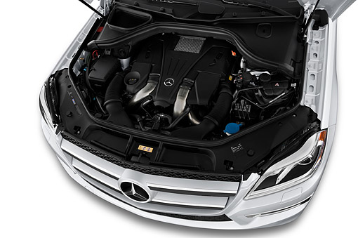 AUT 30 IZ3187 01 © Kimball Stock 2015 Mercedes Benz GL-Class GL450 5-Door SUV Engine Detail
