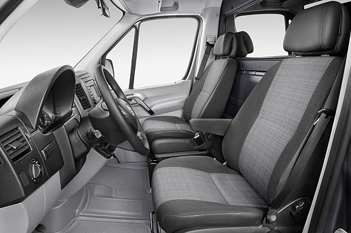 AUT 30 IZ3204 01 © Kimball Stock 2015 Mercedes Benz Sprinter Cargo Van 2500 170 High Roof 5-Door Interior Detail