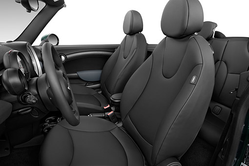 AUT 30 IZ3212 01 © Kimball Stock 2015 Mini Cooper Base 2-Door Convertible Interior Detail