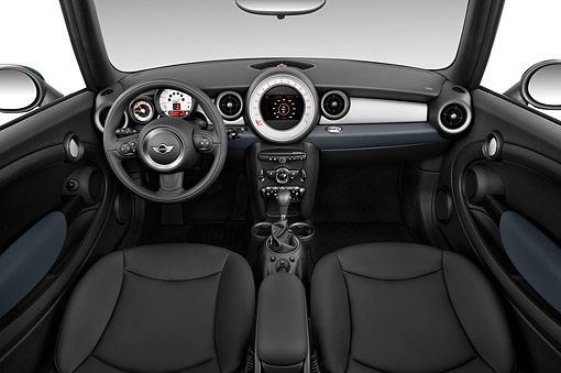 AUT 30 IZ3213 01 © Kimball Stock 2015 Mini Cooper Base 2-Door Convertible Interior Detail