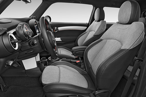 AUT 30 IZ3216 01 © Kimball Stock 2015 Mini Cooper Hardtop S 3-Door Hatchback Interior Detail