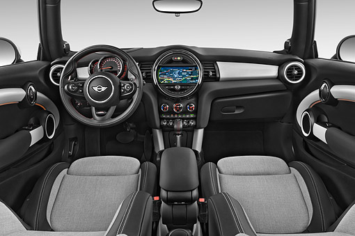 AUT 30 IZ3217 01 © Kimball Stock 2015 Mini Cooper Hardtop S 3-Door Hatchback Interior Detail