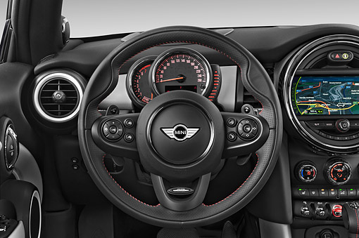 AUT 30 IZ3218 01 © Kimball Stock 2015 Mini Cooper Hardtop S 3-Door Hatchback Interior Detail