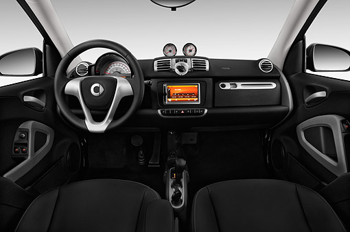 AUT 30 IZ3268 01 © Kimball Stock 2015 Smart Fortwo Passion 2-Door Coupe Interior Detail