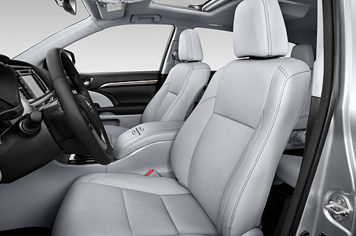 AUT 30 IZ3303 01 © Kimball Stock 2015 Toyota Highlander Limited 5-Door SUV Interior Detail