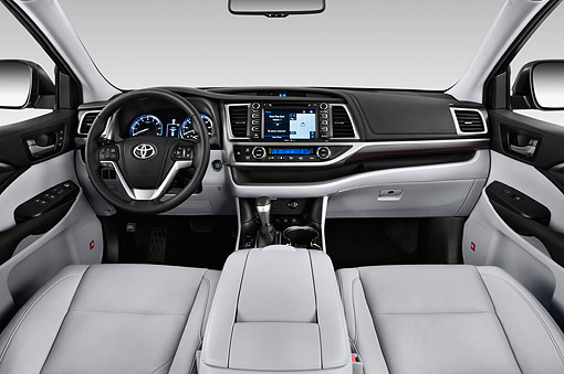 AUT 30 IZ3304 01 © Kimball Stock 2015 Toyota Highlander Limited 5-Door SUV Interior Detail