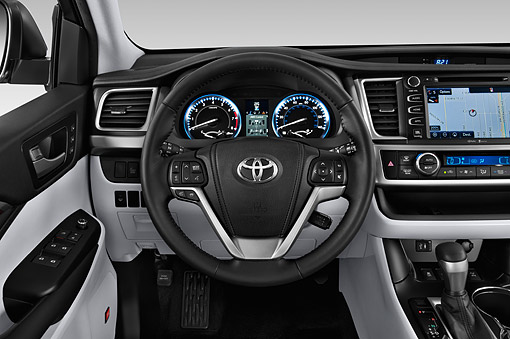 AUT 30 IZ3305 01 © Kimball Stock 2015 Toyota Highlander Limited 5-Door SUV Interior Detail