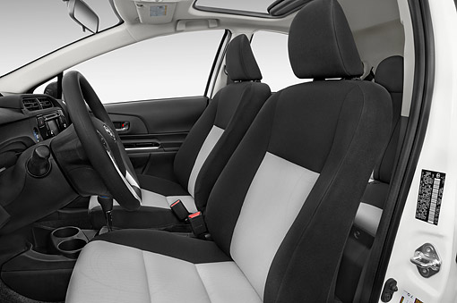 AUT 30 IZ3311 01 © Kimball Stock 2015 Toyota Prius C Three 5-Door Hatchback Interior Detail