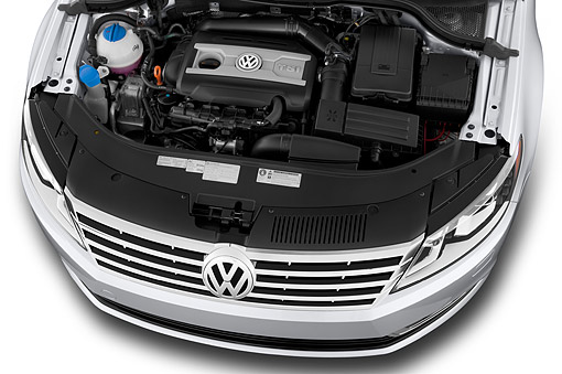 AUT 30 IZ3342 01 © Kimball Stock 2015 Volkswagen CC Tiptronic Sport Plus 4-Door Sedan Engine Detail