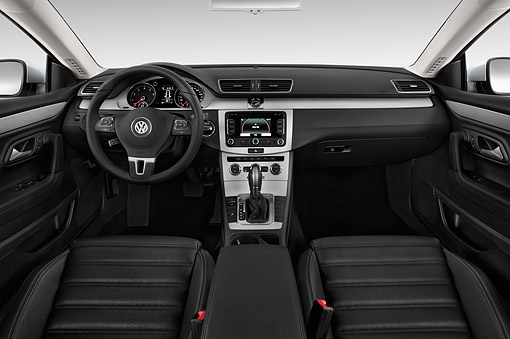 AUT 30 IZ3344 01 © Kimball Stock 2015 Volkswagen CC Tiptronic Sport Plus 4-Door Sedan Interior Detail