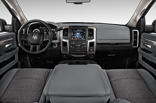 AUT 30 IZ3380 01 © Kimball Stock 2015 Ram 1500 Big Horn Lone Star Crew Cab 4-Door Truck Interior Detail