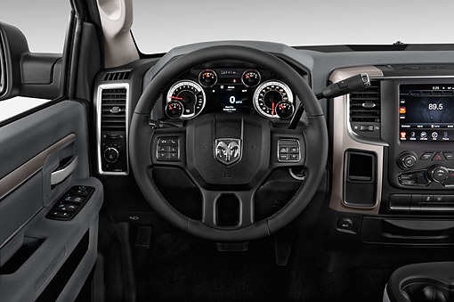 AUT 30 IZ3381 01 © Kimball Stock 2015 Ram 1500 Big Horn Lone Star Crew Cab 4-Door Truck Interior Detail