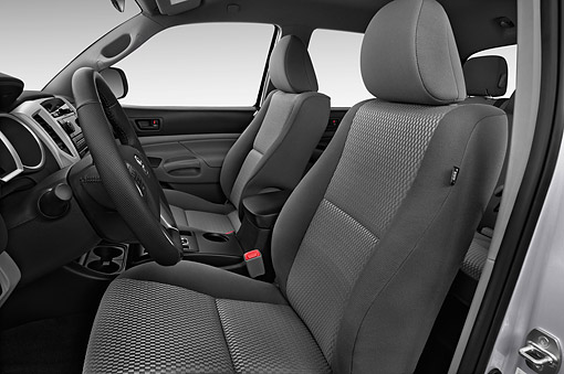 AUT 30 IZ3415 01 © Kimball Stock 2015 Toyota Tacoma Doublecab AT 4-Door Truck Interior Detail