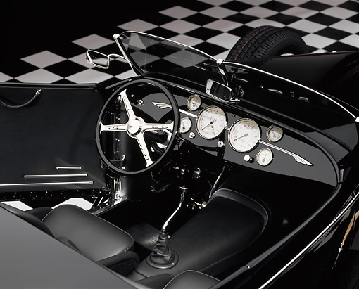 AUT 30 RK0176 05 © Kimball Stock 1999 Moal Special Roadster Black Detail Interior