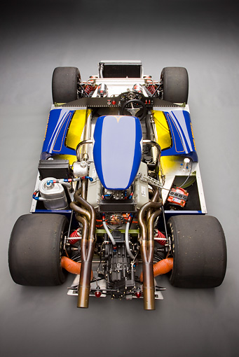 AUT 30 RK4733 01 © Kimball Stock 1967 McLaren M6A-03 Race Car Blue Frame Detail Studio