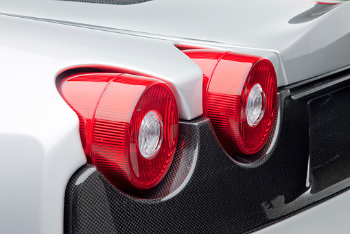 AUT 30 RK4833 01 © Kimball Stock 2009 Ferrari F430 16M Scuderia Spider Silver Brake Light Detail Studio