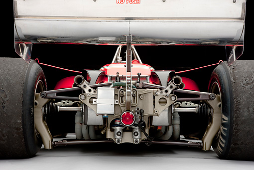 AUT 30 RK5210 01 © Kimball Stock 1979 Ferrari 312 T4 F1 Race Car Red Rear Detail Studio