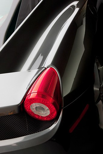 AUT 30 RK5494 01 © Kimball Stock 2010 Ferrari 458 Italia Gray Tail Light Detail In Studio