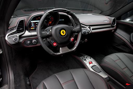 2010 Ferrari 458 Italia Gray Interior Detail In Studio Kimballstock