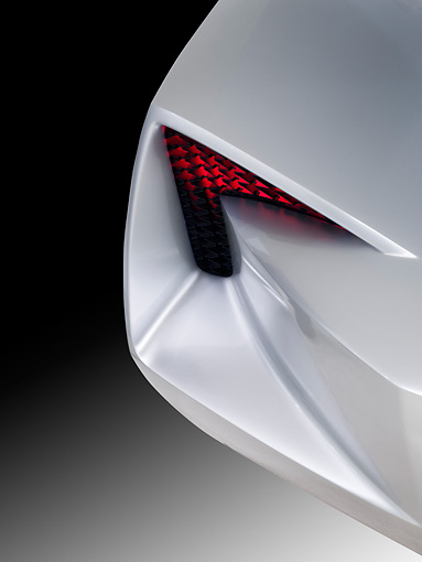 AUT 30 RK5615 01 © Kimball Stock Chevrolet Corvette Stingray Concept Silver Tail Light Detail