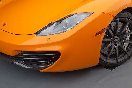 AUT 30 RK5944 01 © Kimball Stock 2012 McLaren MP4-12C Orange Headlight Detail Studio