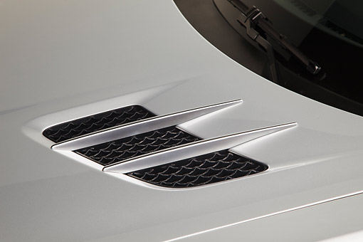 AUT 30 RK6117 01 © Kimball Stock 2012 Mercedes-Benz SLS Silver Vent Detail In Studio