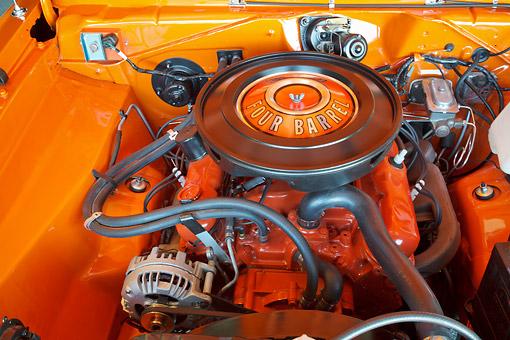 1970 dodge dart swinger 340 orange engine detail kimballstock