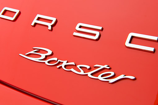 AUT 30 RK6286 01 © Kimball Stock 2013 Porsche Boxster Red Logo Detail In Studio