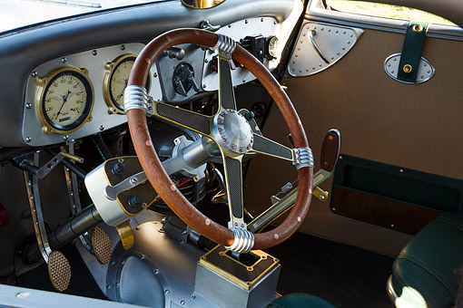 AUT 30 RK6351 01 © Kimball Stock 1933 Moal Falcon Hot Rod Silver Interior Detail