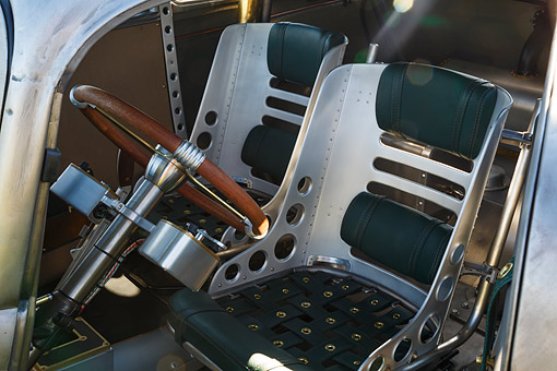 AUT 30 RK6352 01 © Kimball Stock 1933 Moal Falcon Hot Rod Silver Interior Detail