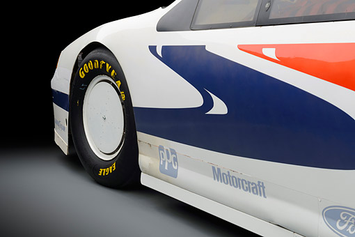 AUT 30 RK6441 01 © Kimball Stock 1988 Ford Thunderbird Race Car Graphics Detail In Studio