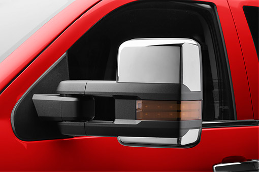 AUT 30 RK6550 01 © Kimball Stock 2017 GMC Sierra 2500HD Sideview Mirror Detail