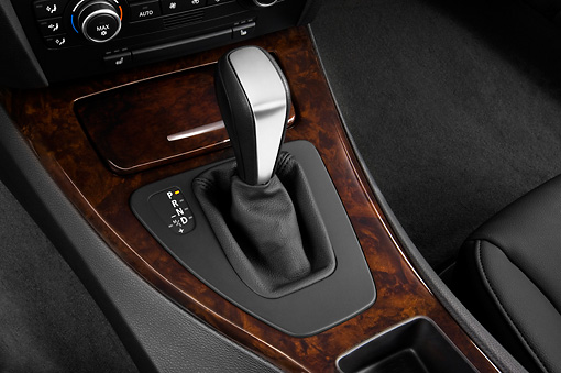 AUT 30 IZ0027 01 © Kimball Stock 2011 BMW 3 Series Station Wagon Silver Interior Detail Studio