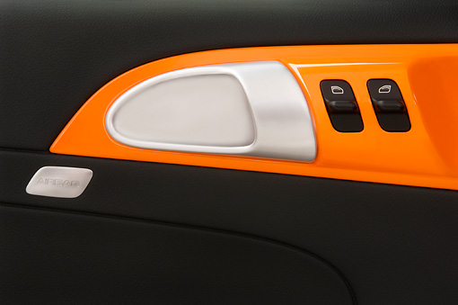 AUT 30 IZ0052 01 © Kimball Stock 2010 Porsche Limited Edition Boxster Orange Interior Detail Studio
