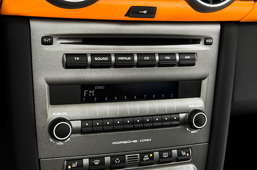 AUT 30 IZ0056 01 © Kimball Stock 2010 Porsche Limited Edition Boxster Orange Interior Detail Studio