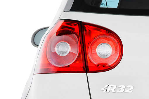 AUT 30 IZ0077 01 © Kimball Stock 2008 Volkswagen R32 White Brake Light Detail Studio