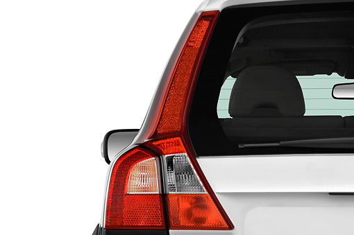 AUT 30 IZ0092 01 © Kimball Stock 2010 Volvo XC70 White Brake Light Detail Studio
