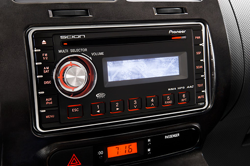 AUT 30 IZ0174 01 © Kimball Stock 2010 Scion xD Blue Interior Detail Studio