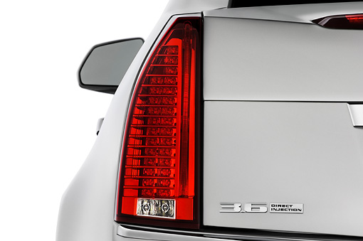 AUT 30 IZ0183 01 © Kimball Stock 2013 Cadillac CTS Silver Brake Light Detail Studio