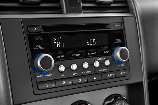 AUT 30 IZ0285 01 © Kimball Stock 2008 Honda Element Silver Interior Detail Studio