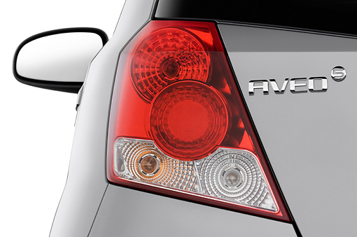 AUT 30 IZ0311 01 © Kimball Stock 2008 Chevrolet Aveo5 LS Gray Brake Light Detail Studio