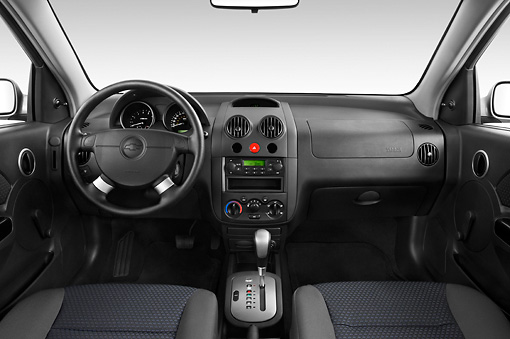 AUT 30 IZ0314 01 © Kimball Stock 2008 Chevrolet Aveo5 LS Gray Interior Detail Studio