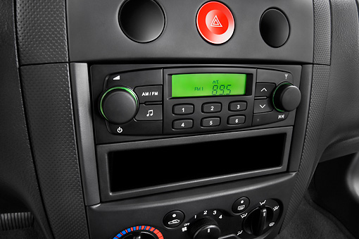 AUT 30 IZ0317 01 © Kimball Stock 2008 Chevrolet Aveo5 LS Gray Interior Detail Studio