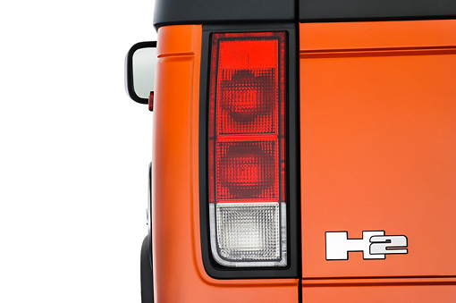 AUT 30 IZ0327 01 © Kimball Stock 2010 Hummer H2 SUT Brake Light Detail Studio