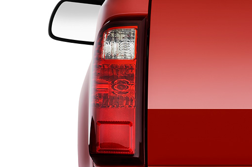 AUT 30 IZ0336 01 © Kimball Stock 2010 Ford F-250 Red Brake Light Detail Studio