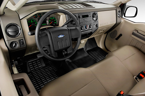 AUT 30 IZ0337 01 © Kimball Stock 2010 Ford F-250 Interior Detail Studio