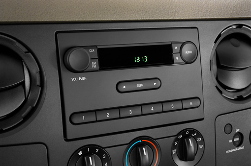 AUT 30 IZ0340 01 © Kimball Stock 2010 Ford F-250 Interior Detail Studio