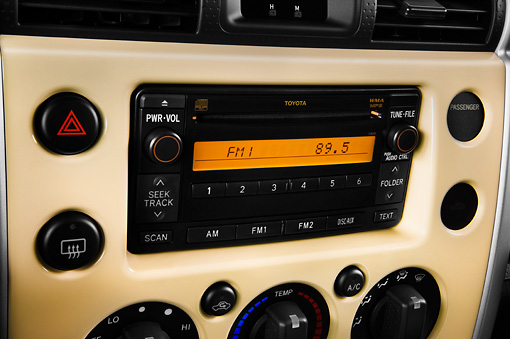 AUT 30 IZ0482 01 © Kimball Stock 2013 Toyota FJ Cruiser Yellow Interior Detail Studio
