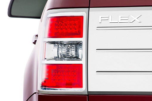 AUT 30 IZ0540 01 © Kimball Stock 2010 Ford Flex Limited Cinnamon/White Brake Light Detail Studio
